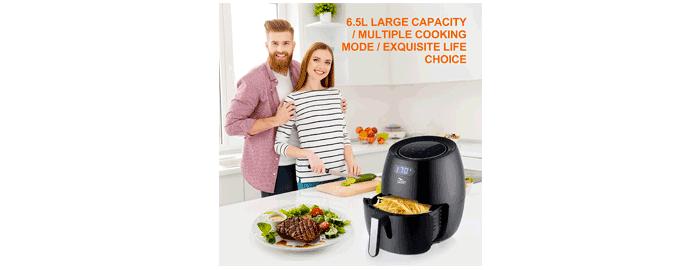 friggere senza olio 6.5 litri